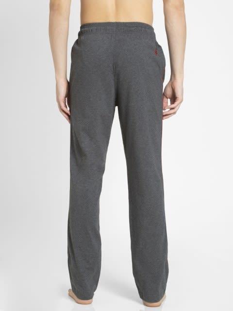 Charcoal Melange & Shanghai Red Track Pant