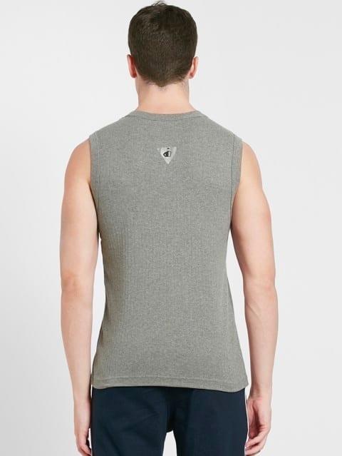 Grey Melange Gym Vest