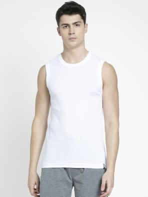 White Gym Vest