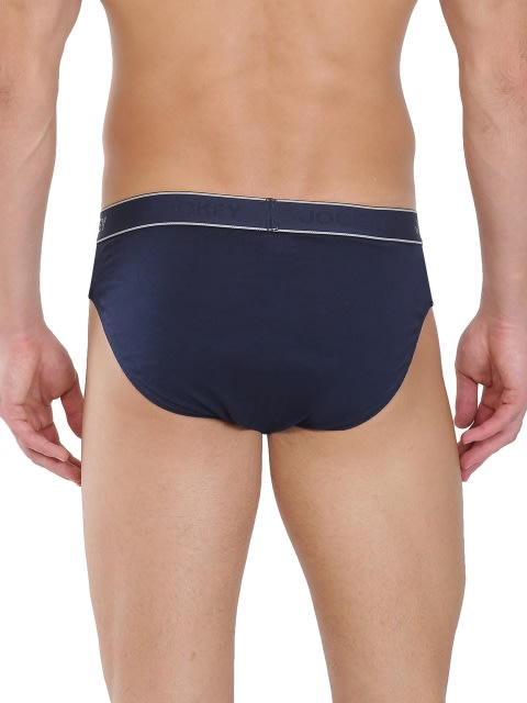 Navy & Grey Melange Fusion Brief Pack of 2