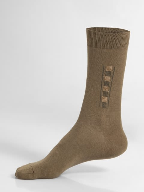 Ochre Brown Formal Socks