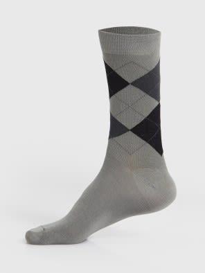 Light Grey Melange Men Calf Length Socks