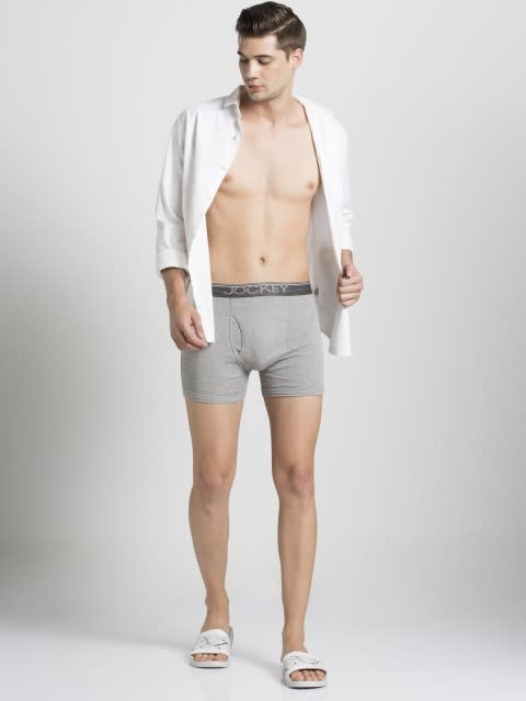 Grey Melange Boxer Brief Pack of 2