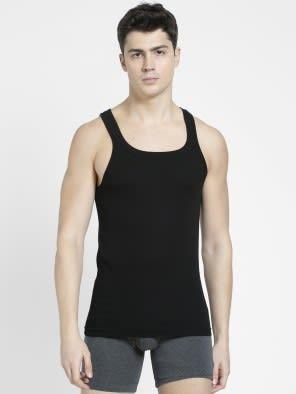 Black Square Neck Vest