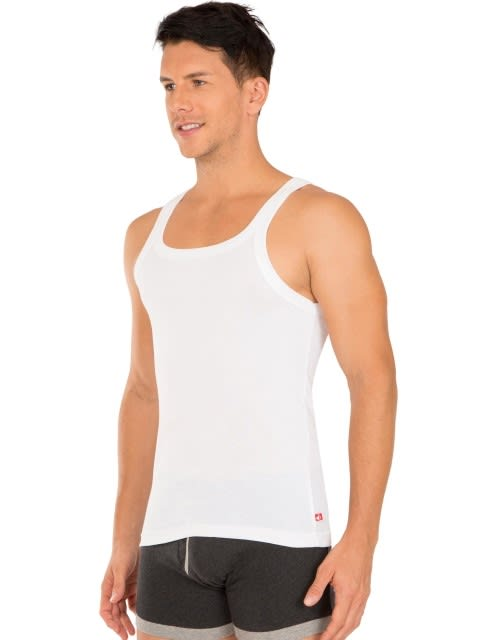 White Square Neck Vest