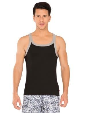 Black & Grey Melange Fashion Vest