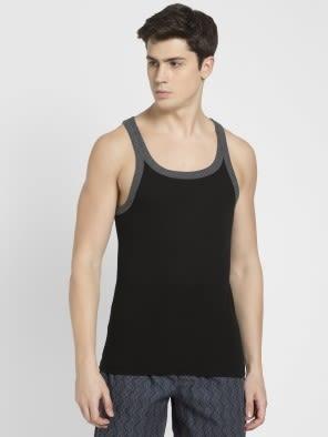 Black & Charcoal Melange Fashion Vest