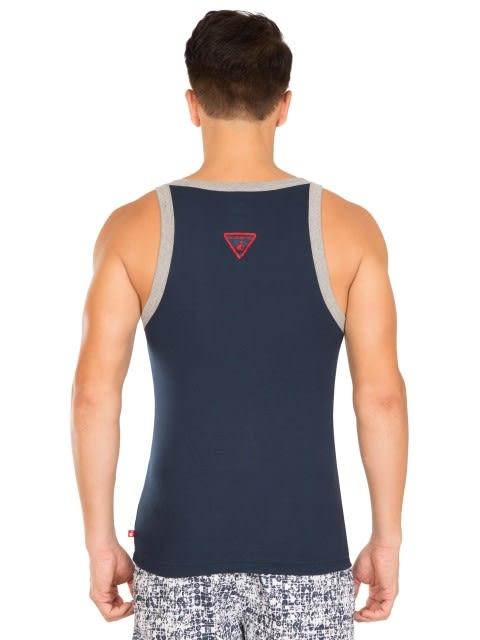 Navy & Grey Melange Fashion Vest