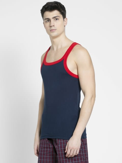 Navy & Red Fashion Vest