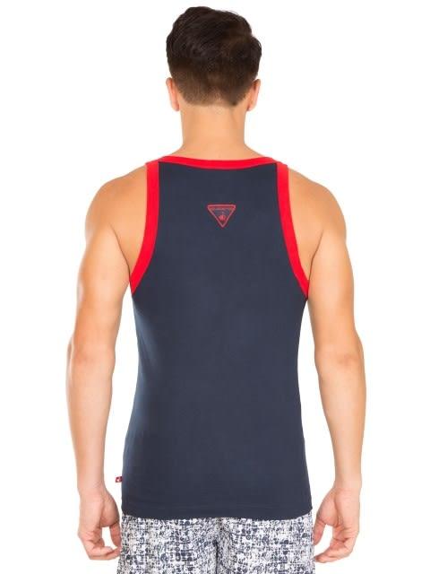 Navy & Red Fashion Vest