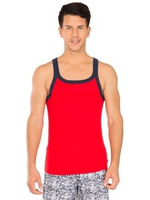 Red Bias & Navy Fashion Vest