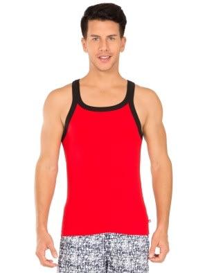 Red Bias & Black Fashion Vest
