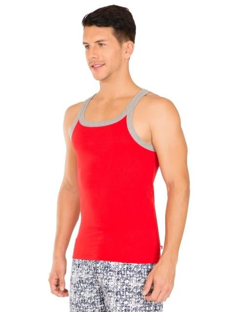 Red Bias & Grey Melange Fashion Vest
