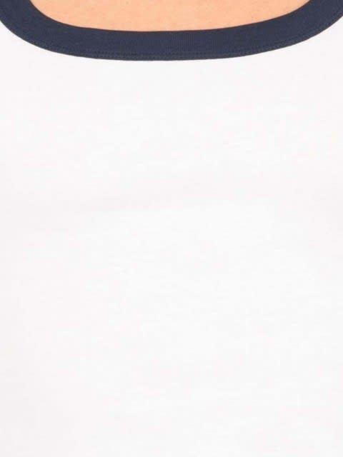 White & Navy Fashion Vest