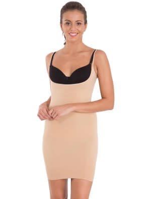 Iced Frappe Seamless Shaping Open Bust Slip