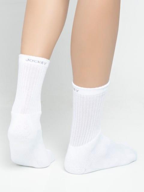 White Men Crew Socks Pack of 3