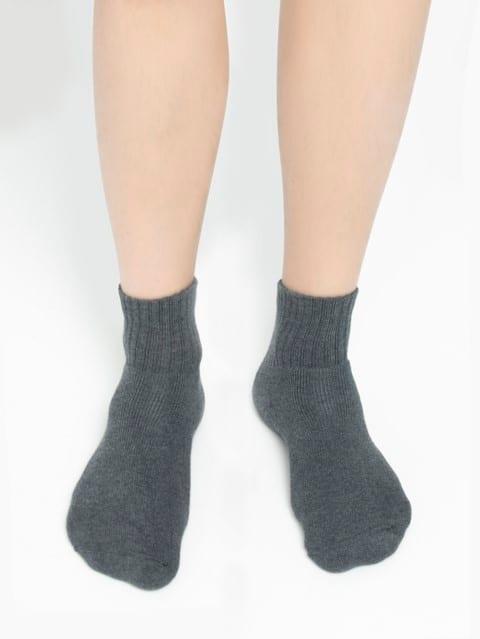 Charcoal Melange Men Ankle Socks