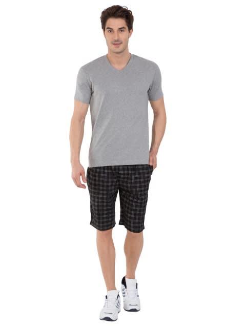 Grey Melange V-Neck T-shirt