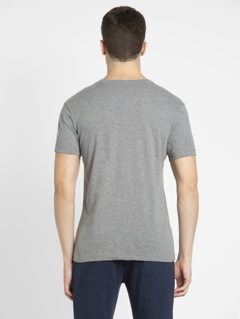 Grey Melange V-Neck T-shirt