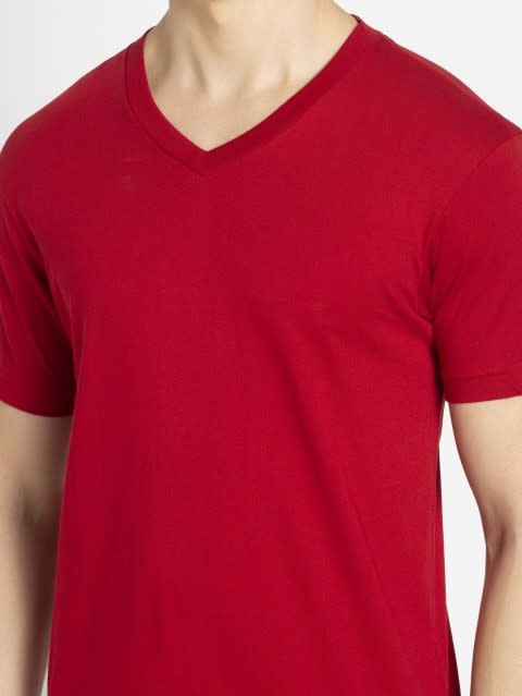 Shanghai Red V-Neck T-shirt