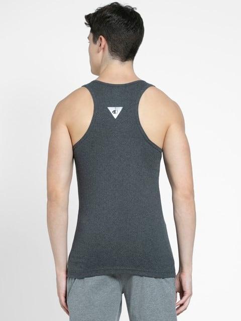 Charcoal Melange Racer Back Shirt