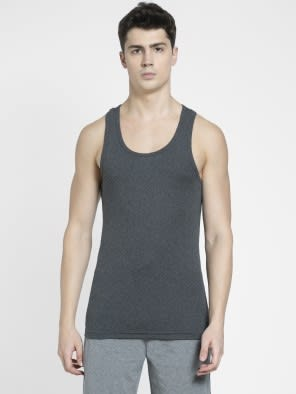 Charcoal Melange Racer Back Shirt
