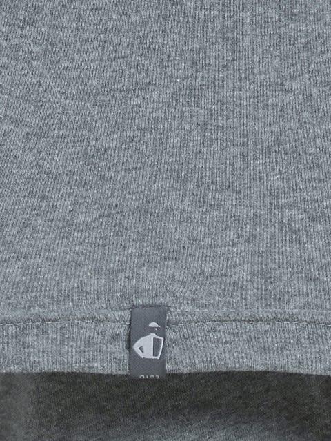 Grey Melange Racer Back Shirt