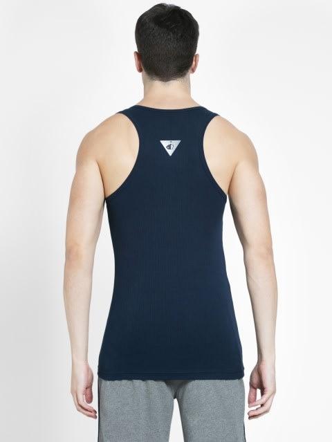 Navy Racer Back Shirt