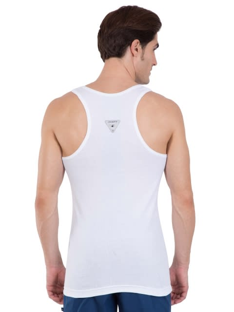 White Racer Back Shirt