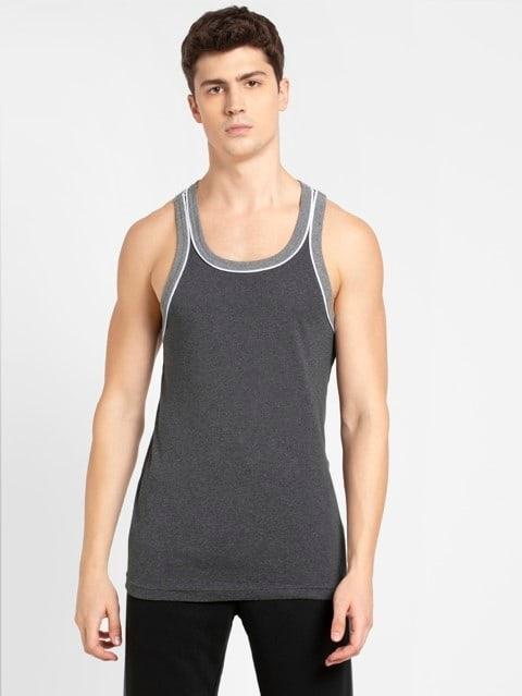 Charcoal Melange & Grey Melange Fashion Power Vest