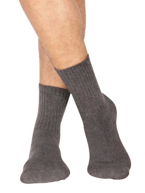 Charcoal Melange Men Crew Socks