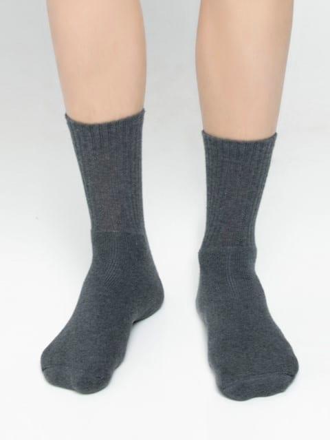 Charcoal Melange Men Crew Socks