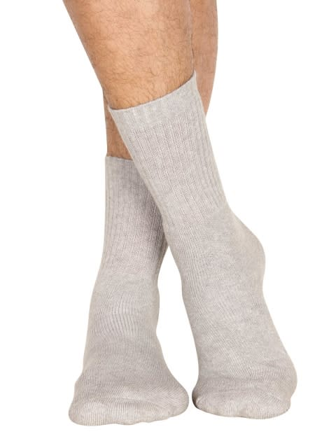 Grey Melange Men Crew Socks
