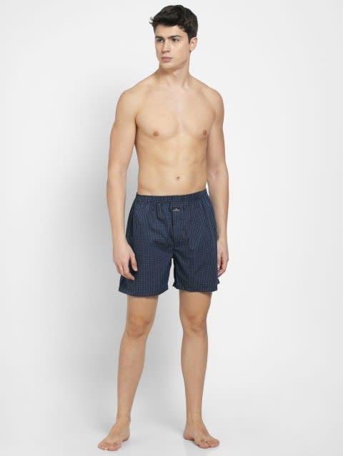 Dark Assorted Checks Boxer Shorts Pack of 2