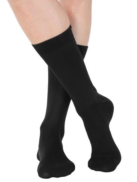 Jet Black Men Formal Socks