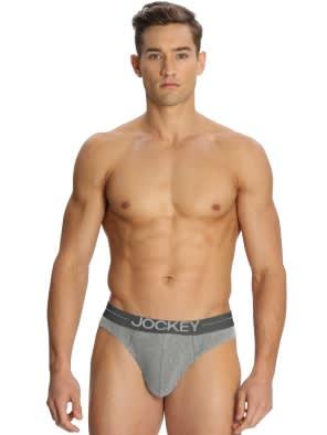 Grey Melange Bikini Brief