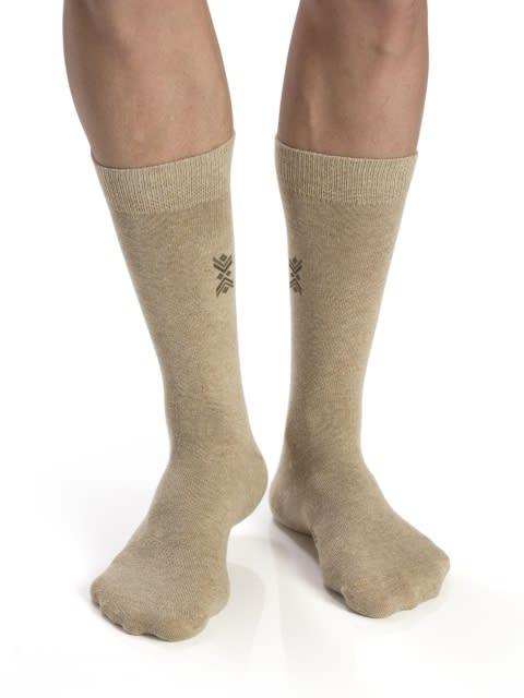 Bamboo Melange-Angle Motif Men Calf Length Socks