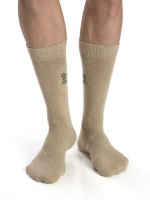 Bamboo Melange-Angle Motif Men Casual Socks