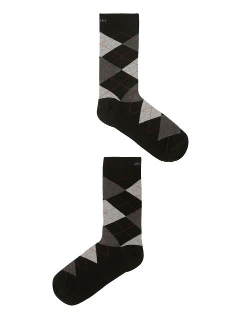 Black Melange-Half Boy Men Calf Length Socks