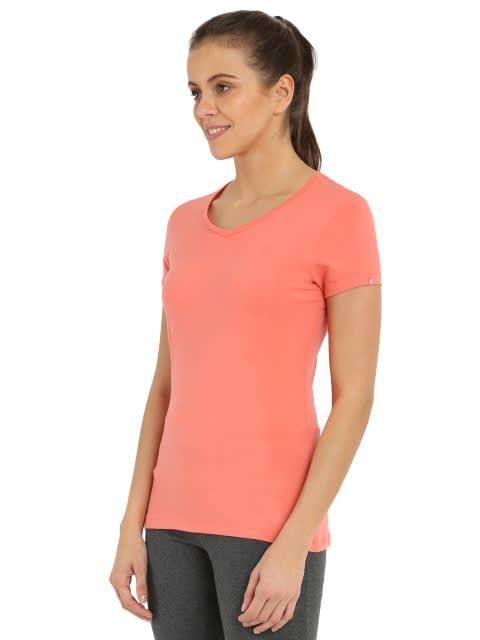 Blush Pink V-neck Tee