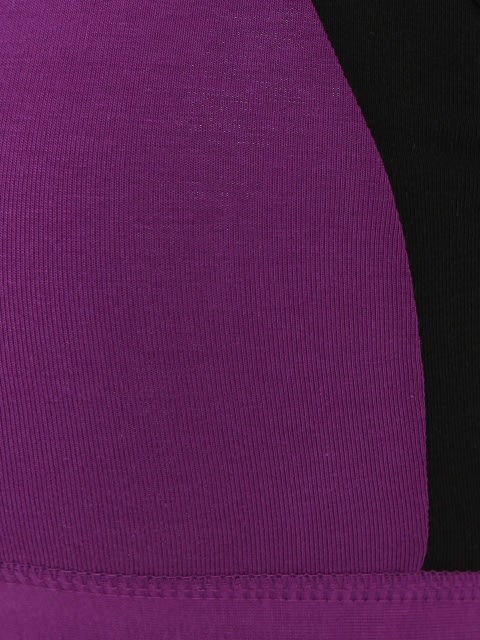 Purple Glory & Black Power Back Padded Active Bra