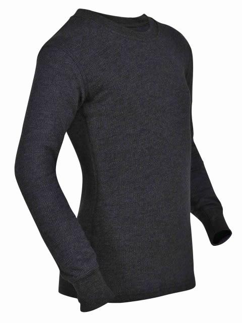 Charcoal Melange Kids Thermal Long Sleeve Vest