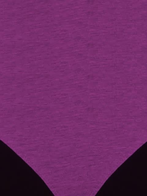Purple Glory & Black Racer Back Padded Active Bra