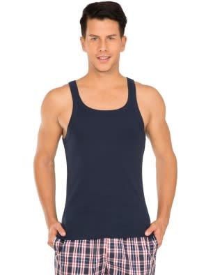 Navy Square Neck Vest