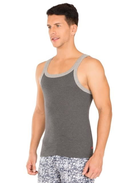 Charcoal Melange & Grey Melange Fashion Vest