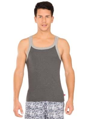 Charcoal Melange & Grey Melange Fashion Vest