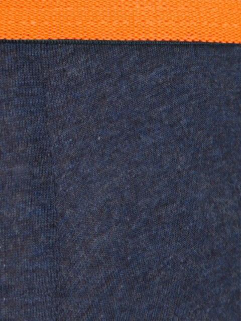 Ink Blue Melange & Neon Orange Bold Brief