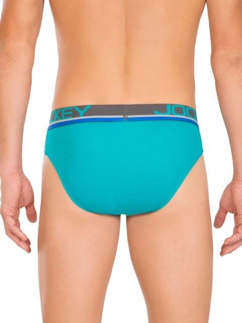 Caribbean Turq & Dark Grey Modern Brief