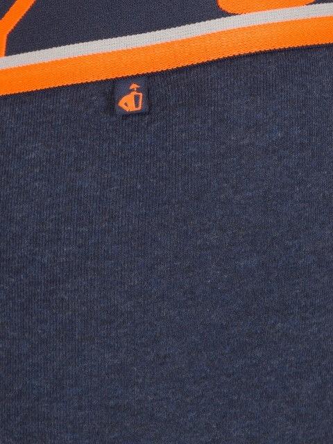Ink Blue Melange & Neon Orange Modern Trunk