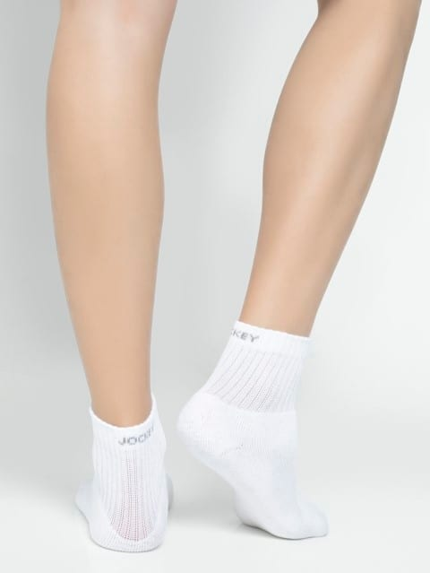 White Men Ankle Socks Pack of 3